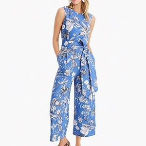 Linen Wrap-Back Jumpsuit in Ratti Tropical Toile